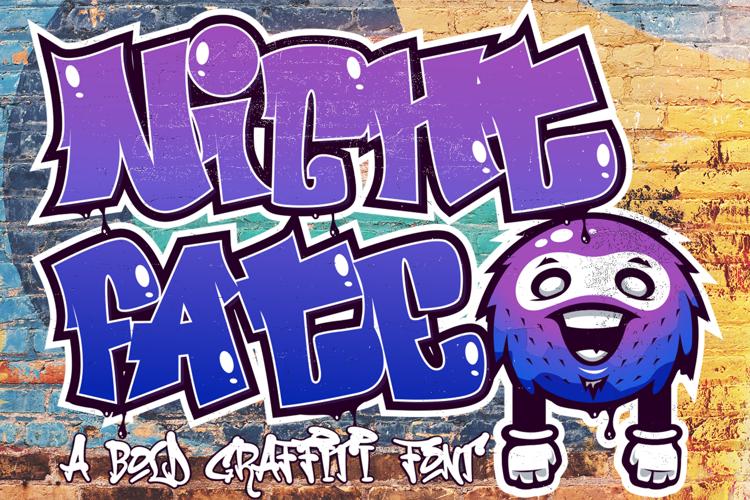 Nightfate Graffiti Font
