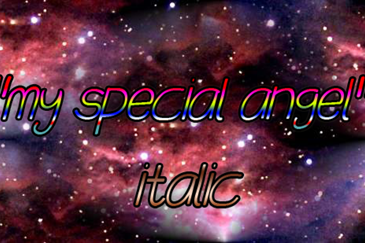 my special angel Font