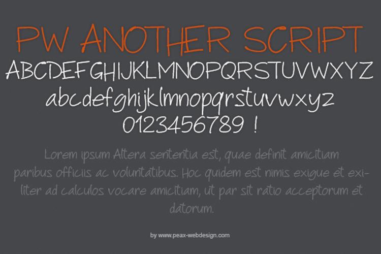 PWAnotherScript Font