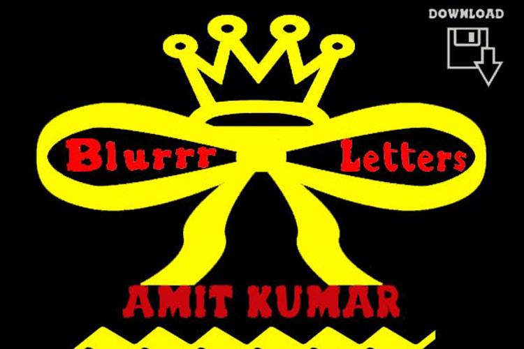 blurrr letters Font