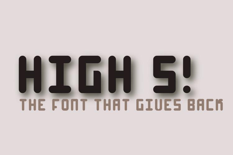 High 4 Font