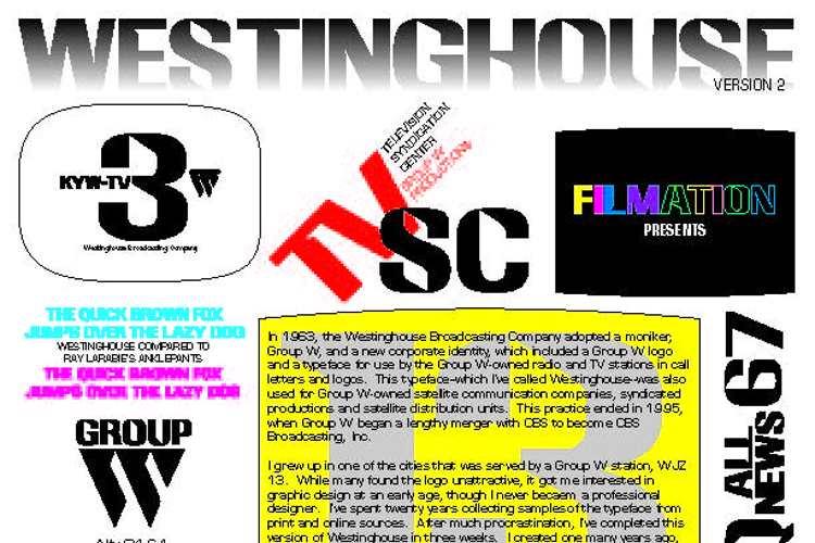 Westinghouse Font