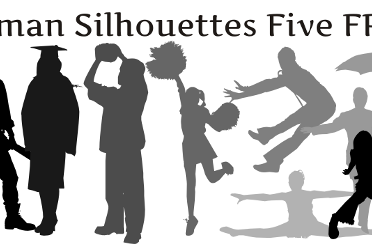 Human Silhouettes Free Five Font