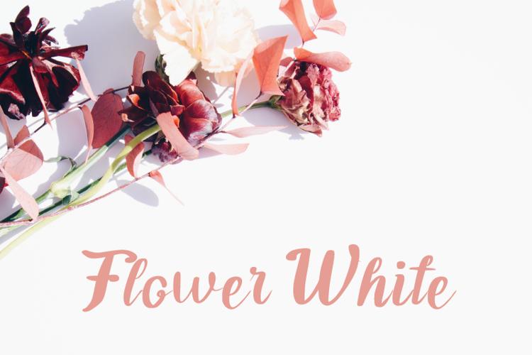 Flower White Font