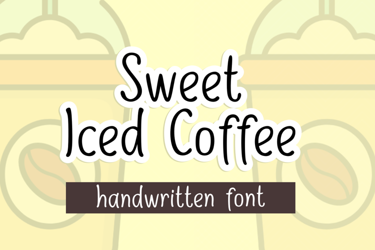 Sweet Iced Coffee Font