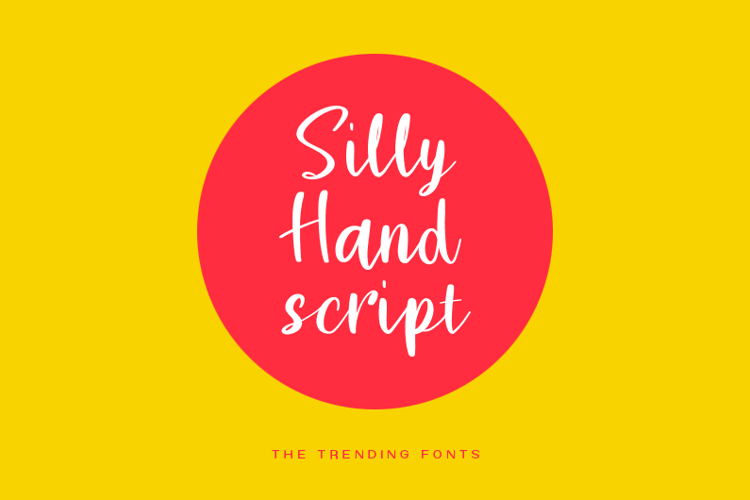 Silly Hand Script Font