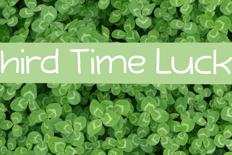 Third Time Lucky (Demo) Font