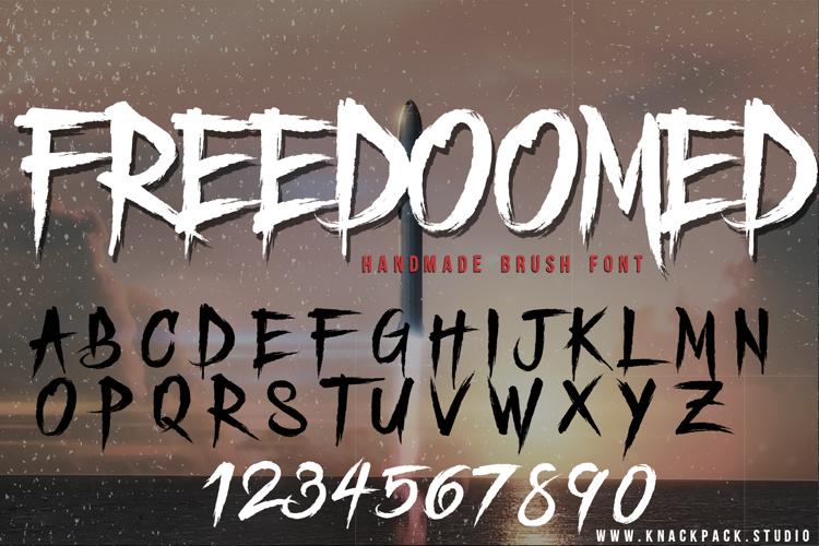 Freedoomed Demo Font