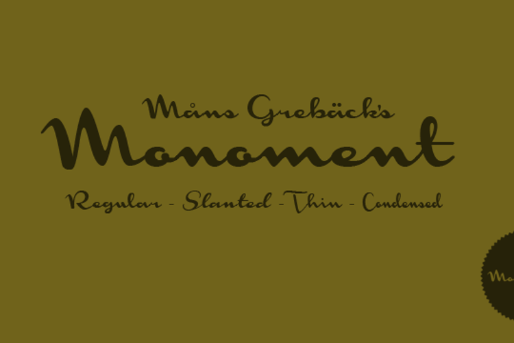 Monoment Font