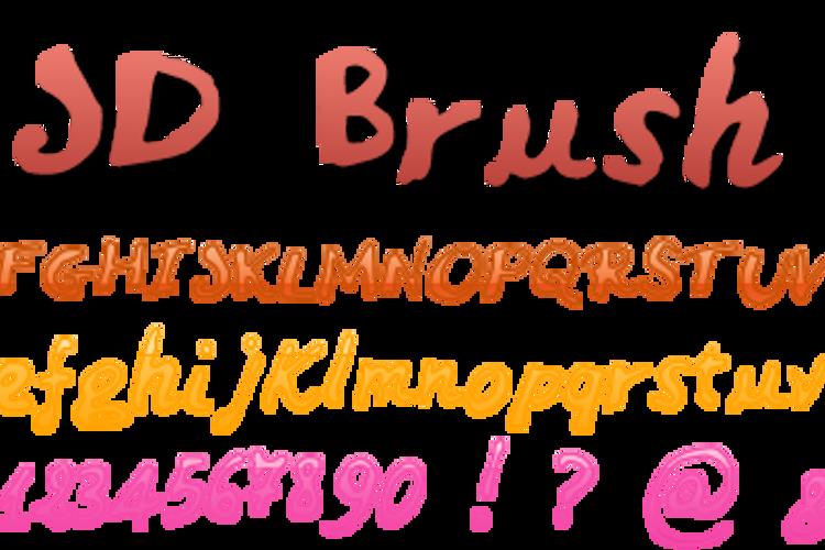 JDBrush Font