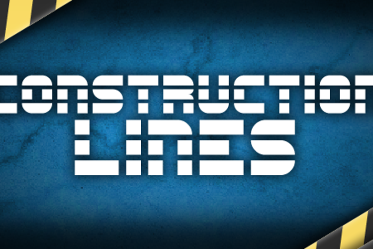 Construction Lines Font
