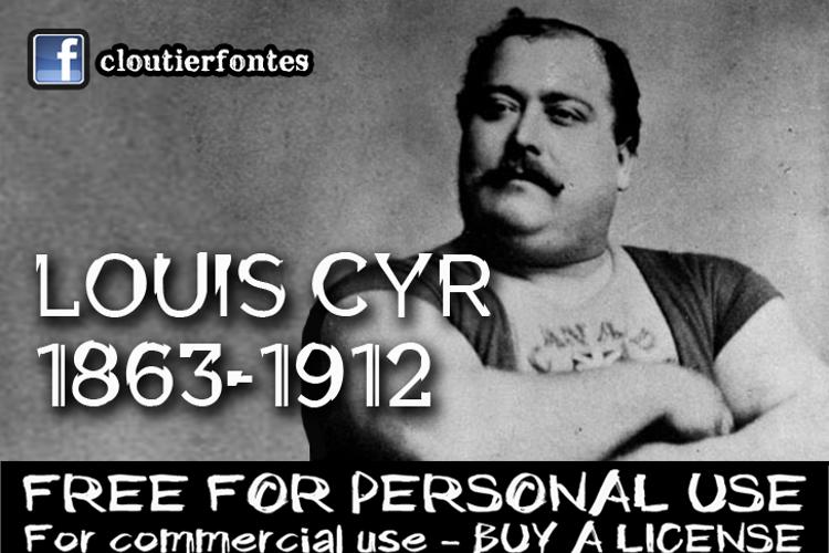 CF Louis Cyr demo Font