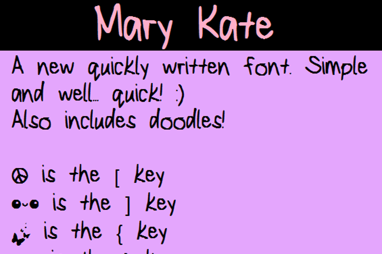 MaryKate Font
