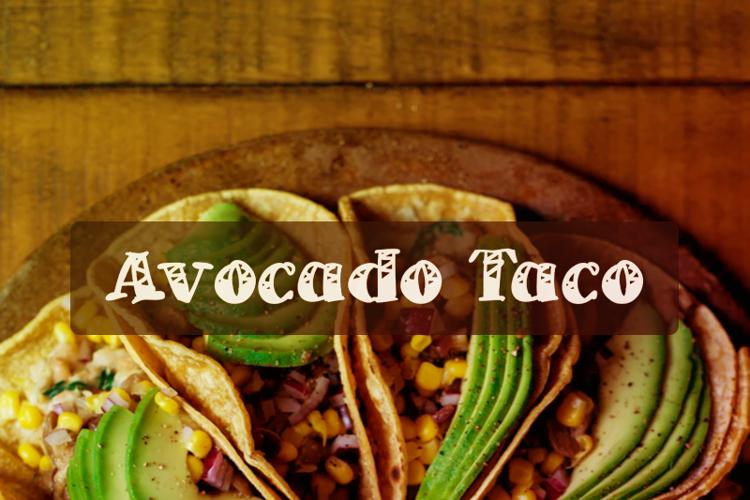 a Avocado Taco Font