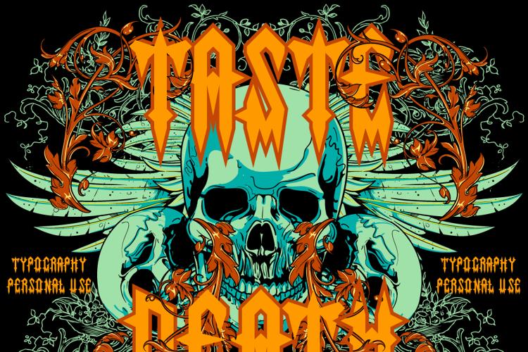 Taste death Font