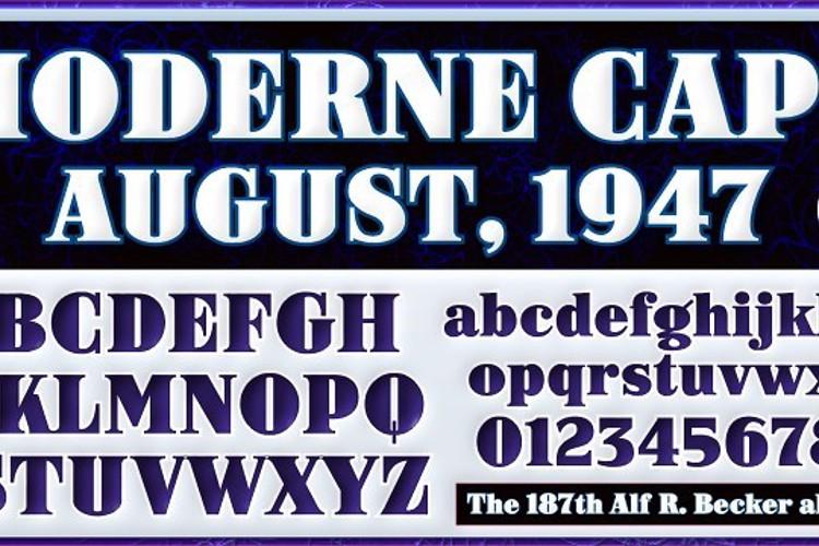 ARB-187 Moderne Caps AUG-47 CAS Font