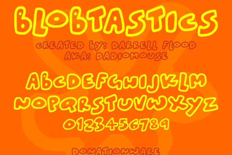 Blobtastics Font