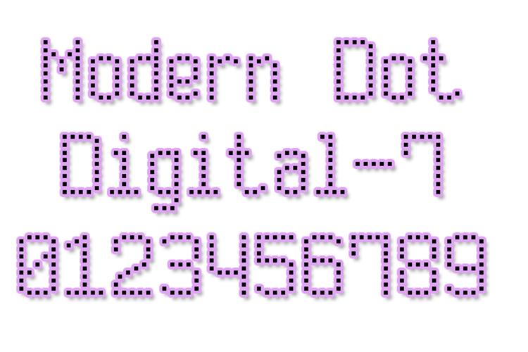 Modern Dot Digital-7 Font