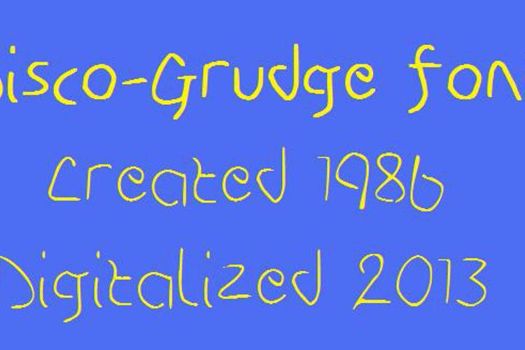 Disco-Grudge Font