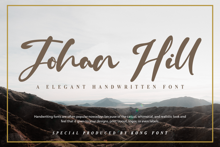 Johan Hill Font
