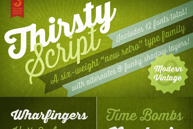 Thirsty Script Extrabold Font