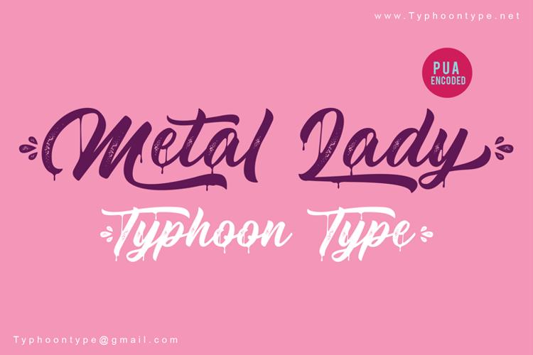 Metal Lady - Font
