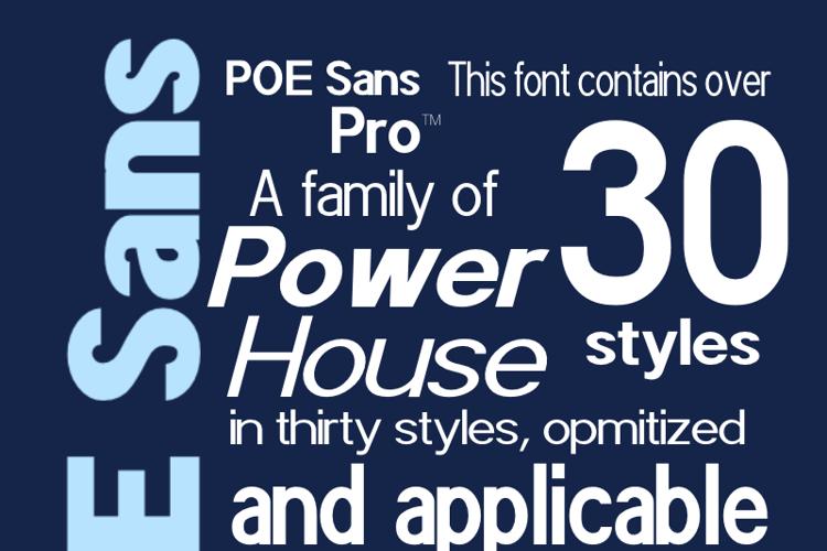 POE Sans Pro Font