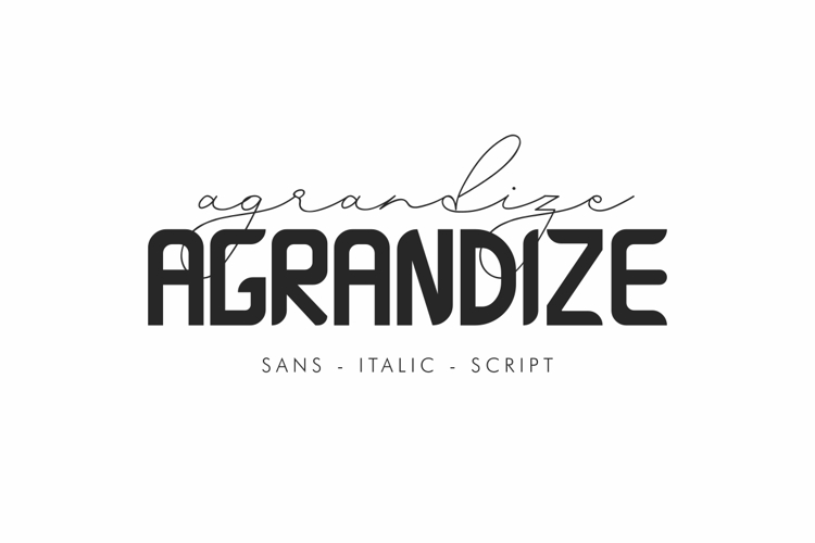 Agrandize Font