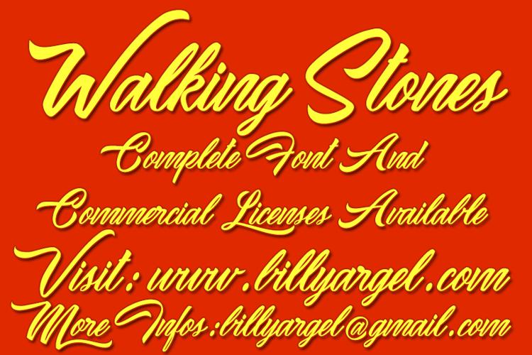 Waking Stones Font