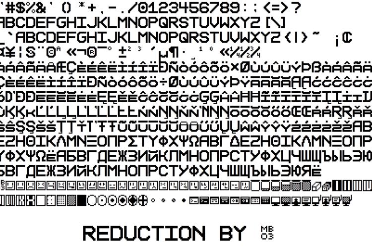 Reduction Font
