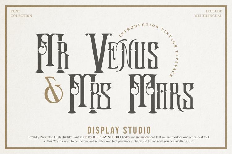 Mr. Venus & Mrs. Mars Font