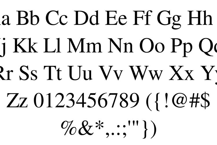 FreeSerif Font