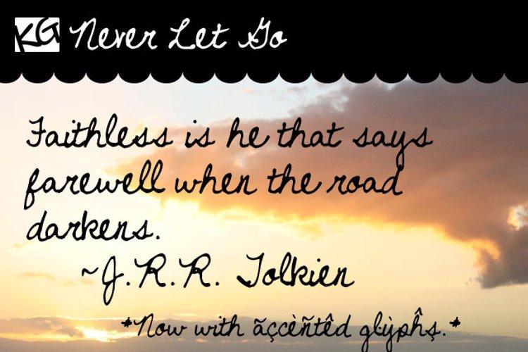 Never Let Go Font