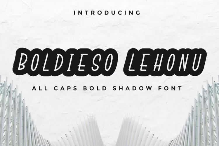 Boldieso Lehonu Font