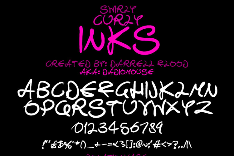 Swirly Curly Inks Font