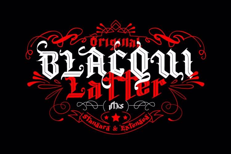 Vtks Blacqui Latter Font