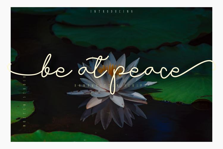 Be at peace Font