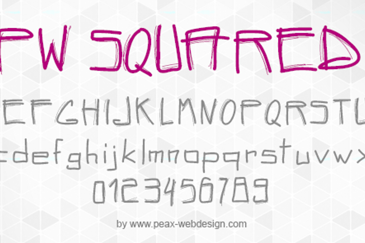PWSquared Font