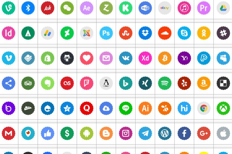 Bottons Social Media 2019 Font