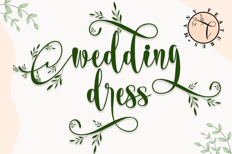 wedding dress Font