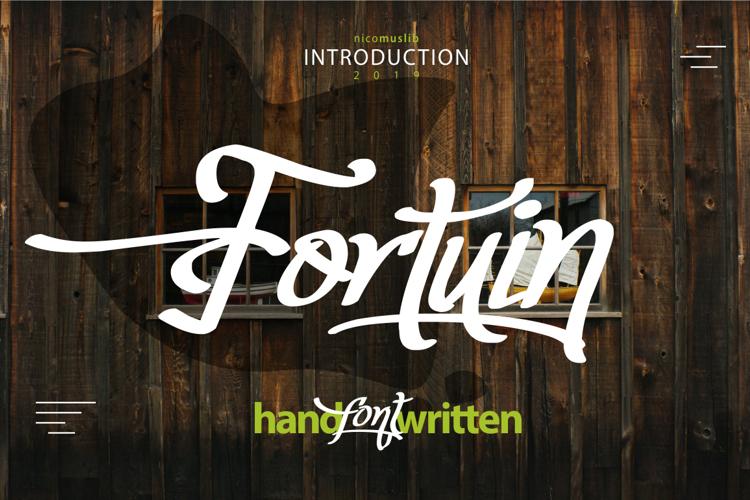 Fortuin Handlettering Font
