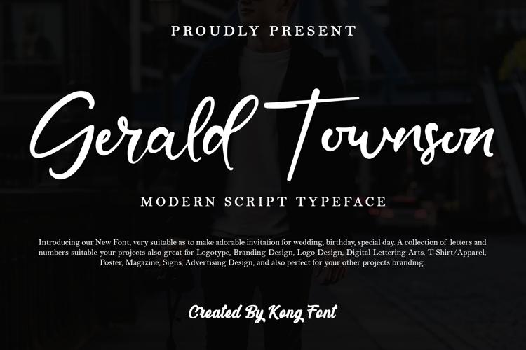 Gerald Townson Font