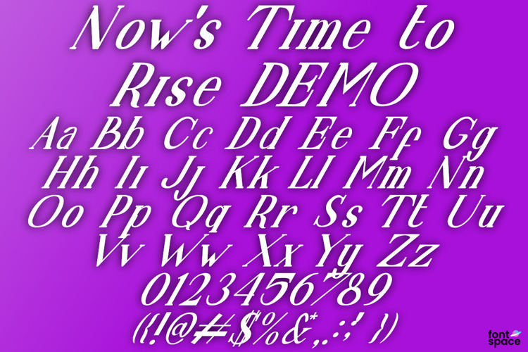 Now 's Time to Rise Font
