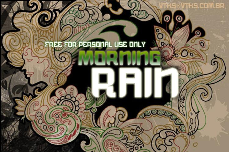 vtks morning rain Font