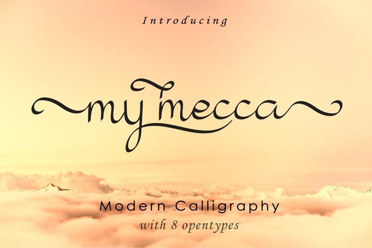 my mecca Font