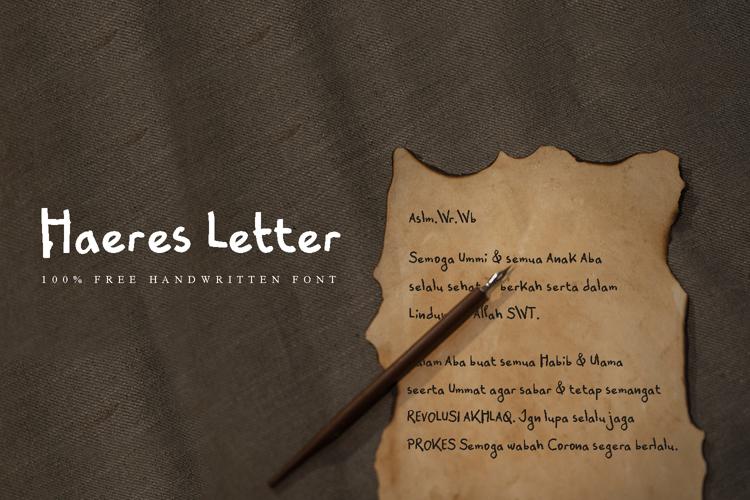 Haeres Letter Font