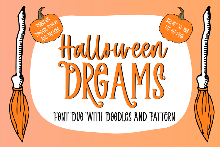 Halloween Dreams Doodles Font