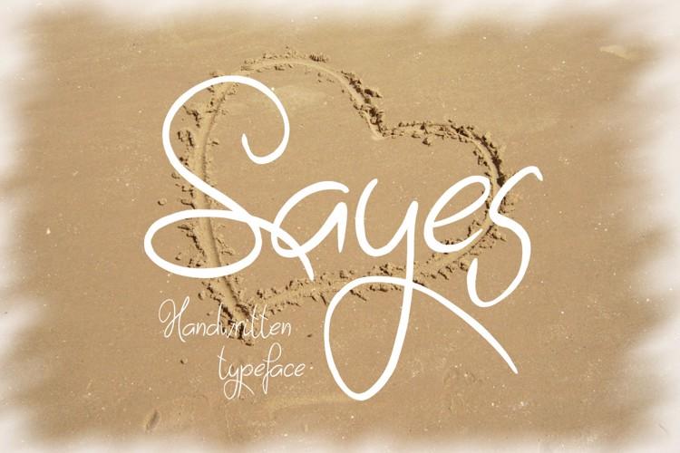 Sayes Font