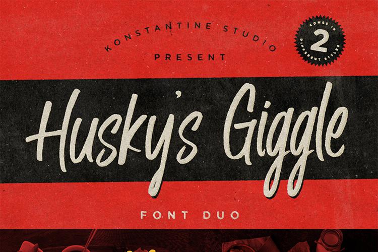 Husky Giggle Font
