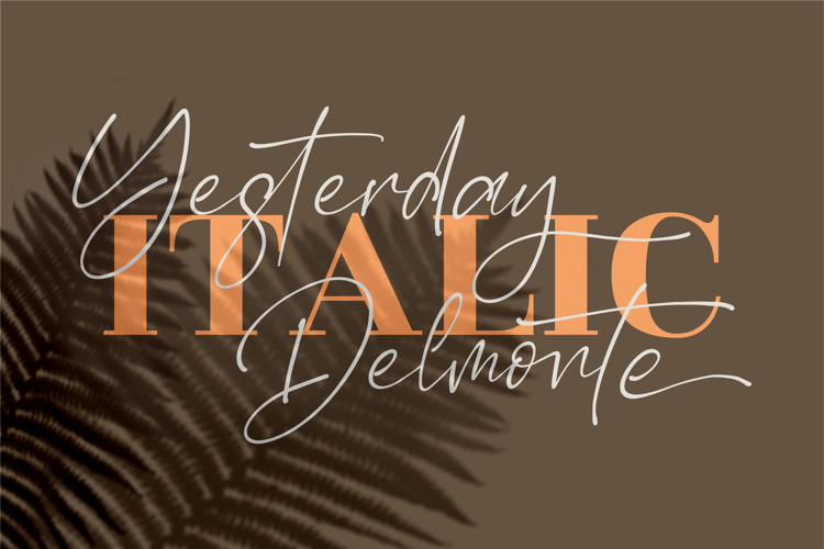 Yesterday Delmote Font